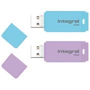 1 USB-sleutel Integral 16 GB paars + 1 USB key 16 GB blauw gratis