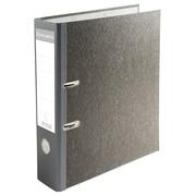 Classeur à levier papier marbre gris dos de 80mm - dos couleur - A4.