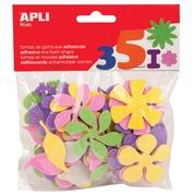 Apli Kids fleurs adhésifs avec paillettes, blister de 48 pièces