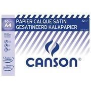 Canson papier calque ft 21 x 29,7 cm (A4), étui de 12 feuilles