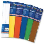 Folia crêpepapier pak van 10 stuks in geassorteerde kleuren: wit, geel, licht oranje, lichtblauw, blau...