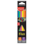 Maped crayon couleur triangulaire Color'Peps Fluo