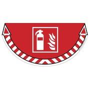 Take Care by CEP vloersticker, brandblusapparaat