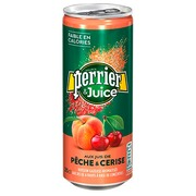 Water Perrier & Juice peach cherry 25 cl - pack of 24 cans