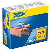 Nietjes Rapid Strong 24/6 Red Stripe verkoperd - doos van 2000