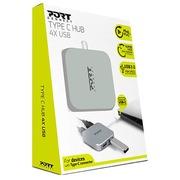 Hub met 4 USB-poorten type C