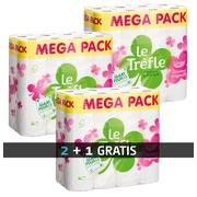 Toilettenpapier Le Trèfle - Kaufen Sie 2 Boxen von 24 Rollen und empfangen Sie 1 Box von 24 Rollen GRATIS