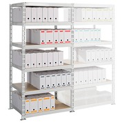 Archive rack Archiv' Eco 2 - basis element H 200 x W 100 x D 70 cm galvanized steel plate double access