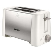 Philips Daily Collection HD4825 Metal Compact - Toaster - Weiß / Edelstahl