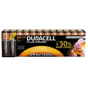 Alkaline battery AA - 24 pieces LR6 Duracell Plus Power