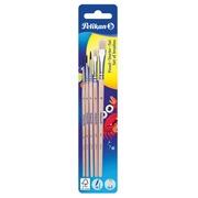 Pelikan penselenset , blister van 5 stuks, S613F in nr 6 en 10 en S24 in nr 2, 4 en 6