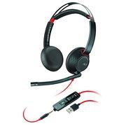 Koptelefoon met draad Plantronics Blackwire C5220 - 2 oortjes