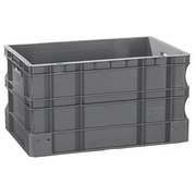 Bac de stockage gerbable norme Europe en plastique Viso - 55 litres