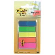 Notes Post-It Index Translucent, ft 12 x 43 mm, couleurs assorties, 20 tabs par couleur