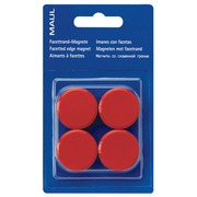 Maul aimant MAULsolid, diamètre 20 mm, rouge, blister de 8 pièces