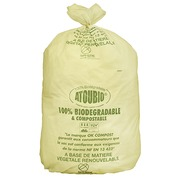 Garbage bag green 130 L biodegradable ATOUBIO - box of 100