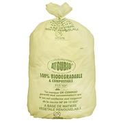 Vuilniszak groen 130 liter biologisch afbreekbaar ATOUBIO - doos van 100