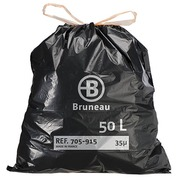 Garbage bag 50 L superior quality with drawstring Bruneau - box of 100