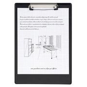 Porte-bloc A4 PVC noir 23,5 x 34 cm