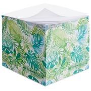 Bloc cube dos encollé motif feuilles Bruneau 90 x 90 mm - bloc de 600 feuilles