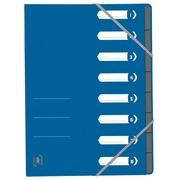 Elba Oxford Top File+ trieur, 8 compartiments, avec des élastiques, bleu