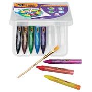 Bic Kids pastels à l'huile acquarelles Duo Magix, étui de 8 pièces