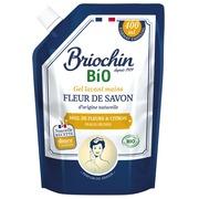 Recharge savon gel pour les mains miel de fleurs et citron Briochin - Flacon 400ml