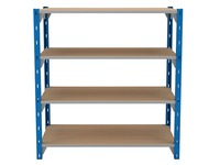 Set van 4 houten isorel legplanken voor Archiv'Pro breedte 100 cm