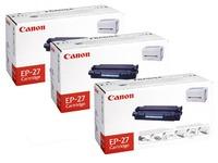 Pack de 3 toner Canon EP-27 noire