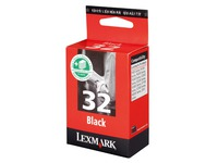 Cartridge Lexmark 32HC zwart