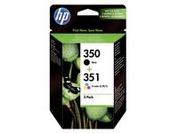 Pack van 2 cartridges HP 350 zwart en 350 kleur