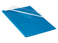 Couverture de thermosoudure dos 3 mm carton 220 g Fellowes bleue