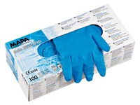 Box of 100 green latex gloves not powdered Mapa