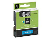 Dymo labels 12 mm black on blue for Pocket/1000/2000/3500/5000/5500