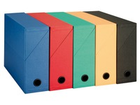 Filing box in cardboard Adine recycled with back 9 cm assorted colours