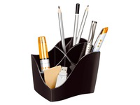 Pen holder Cep Isis Greenspirit black 4 compartments