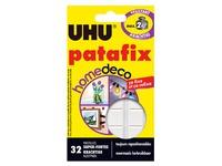 Plastikhülle mit 32 Klebestreifen Uhu Patafix Home Deco - Weiß