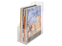 Lagoon magazine holder-crystal (transparent)