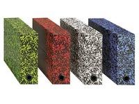 Boîte de classement carton Adine tradition dos 9 cm couleurs assorties
