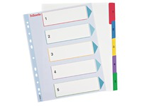 Rewritable dividers, A4, 5 divisions