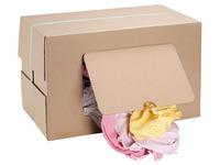 Chiffon textile coton fin couleur assorties - Boîte de 9,5 kg