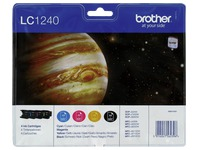 Set 4 cartridges Brother LC1240 zwart + kleuren