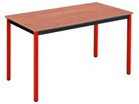 Table de réunion multiforme classique rectangulaire plateau teck