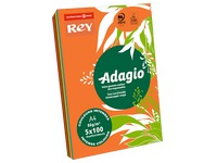 Adagio, ream of 500 sheets, A4, 80 g, 5 assorted bright colours