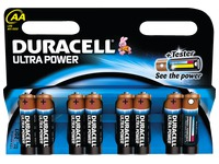 Alcaline battery AA - LR6 Duracell Ultra Power - Blister of 8