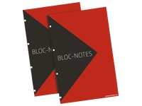 Notepad 100 sheets 5 x 5 A4+ 70 g with 4 perforations