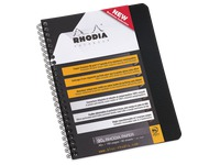 Notebook Rhodiactive A5 16 x 21 cm - checkered 5 x 5 - 160 pages