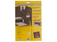Microperforated inserts for badges Avery 40 x 75 mm - Box of 240