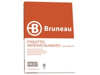 Box von 3200 Adressetiketten Bruneau weiß 99,1 x 33,9 mm für Tintenstrahldrucker