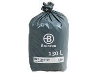 Sac poubelle gris Bruneau premium 130 litres - Colis de 200